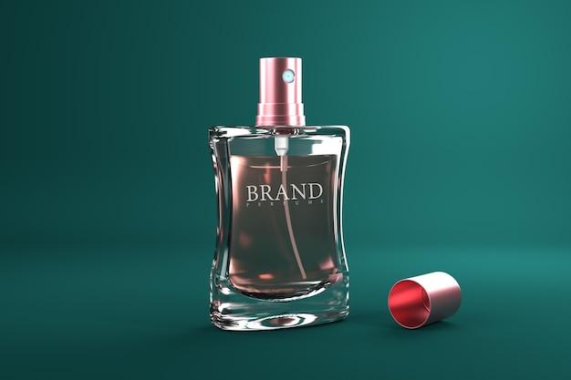 Parfum verpakking 3d render mockup Premium Psd