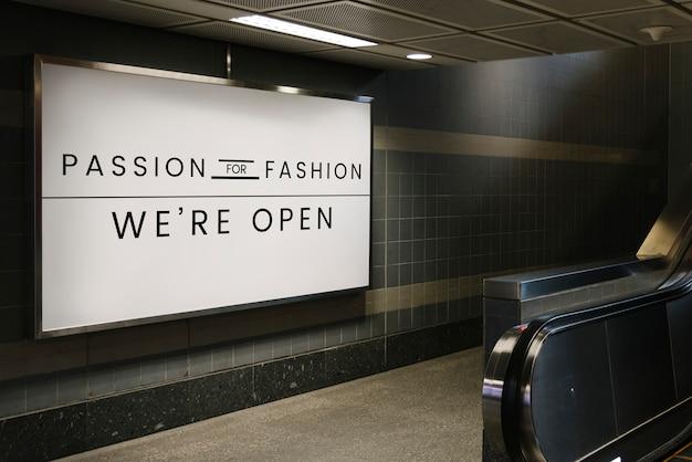 Passie voor mode-uithangbordmodel Gratis Psd
