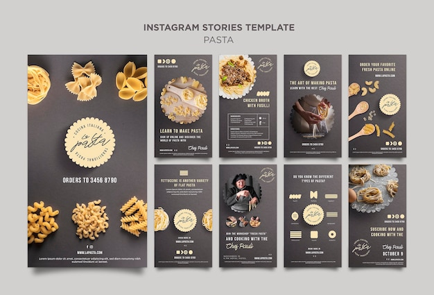 Pasta winkel instagram verhalen sjabloon Gratis Psd