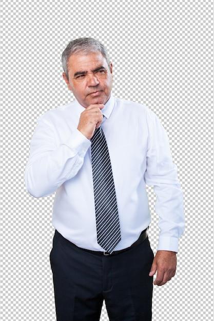 Pensiero dell'uomo d'affari Psd Premium