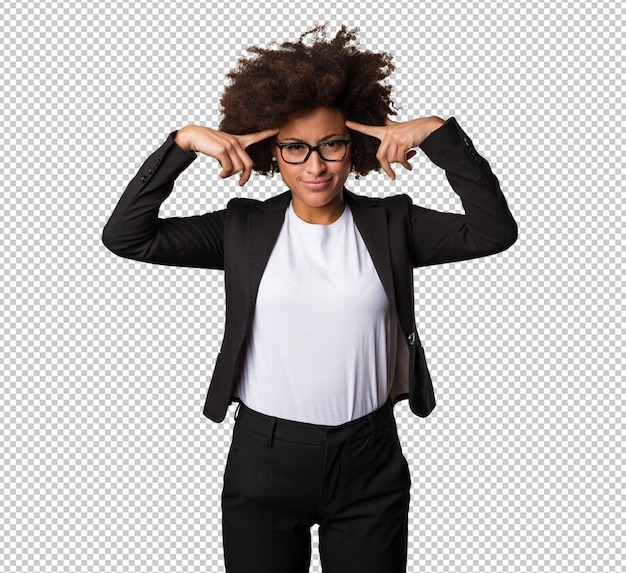 Pensiero della donna di colore di affari Psd Premium