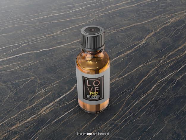 Pequeña botella de aceite psd maqueta PSD Premium