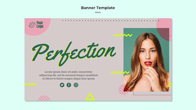 Perfectie banner websjabloon Gratis Psd