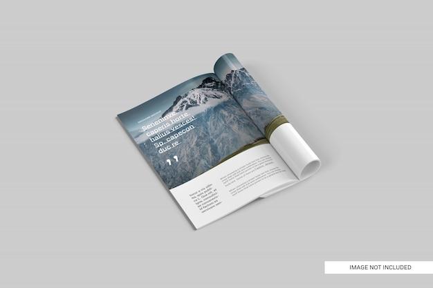 Perspectief bekijk tijdschrift mockup Premium Psd