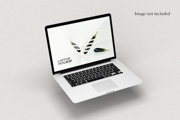 Perspectief laptop mockup Premium Psd