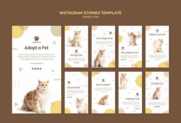 Pet adoptie instagram verhalen sjabloon Gratis Psd