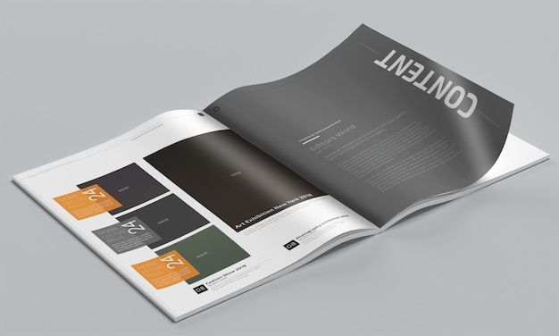Photo-realistic magazine mockup Psd Premium