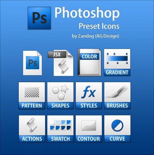 ba5a12ab69d23 Photoshop iconos predefinidos psd