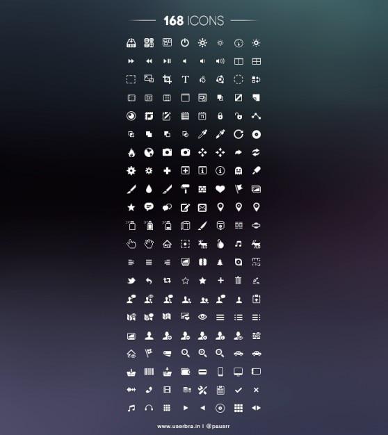 Pictogram pictogrammen pixel psd ui Gratis Psd