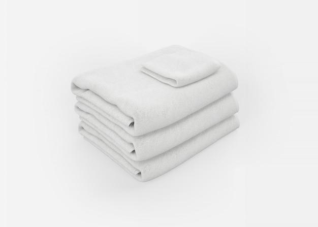 Pila de toallas en blanco PSD gratuito