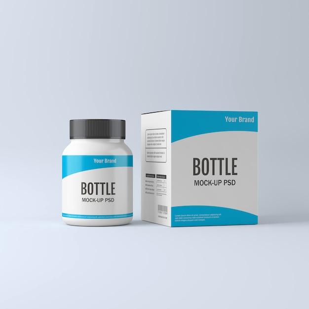 Pill bottle mockup Psd Premium