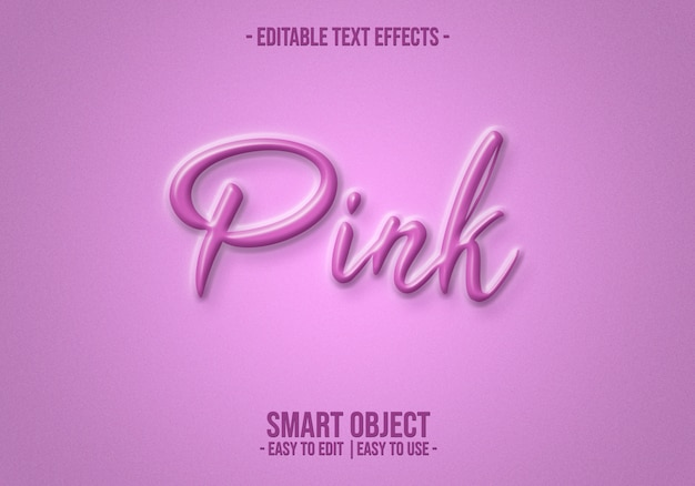 Pink-text-style-effect Premium Psd
