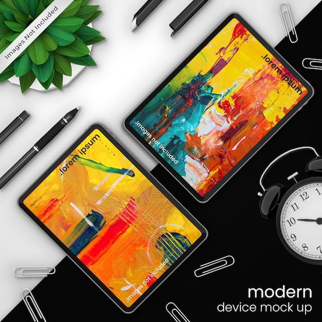 Pixel perfecte, creatieve apparaat mockup tablet Premium Psd