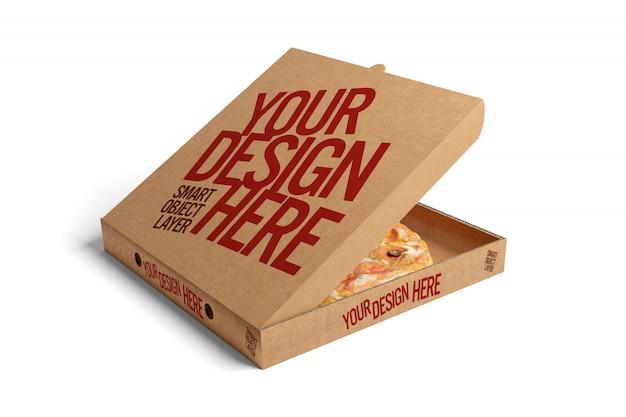 Pizza box maqueta PSD Premium