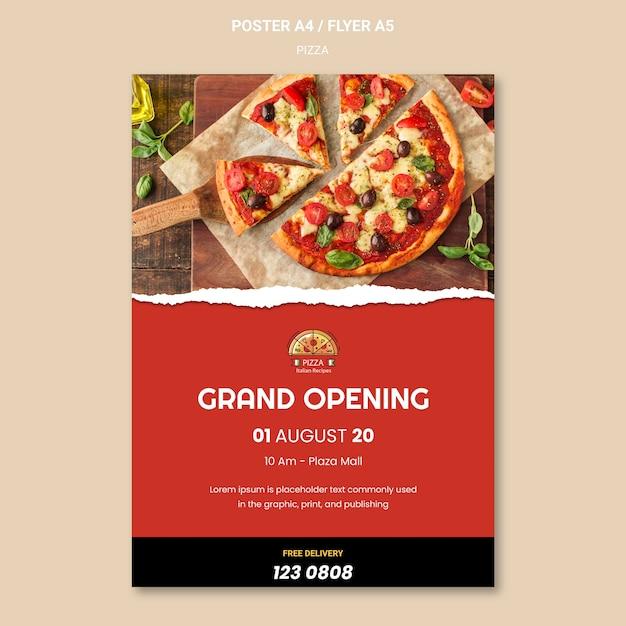 Pizza restaurant folder sjabloon Gratis Psd