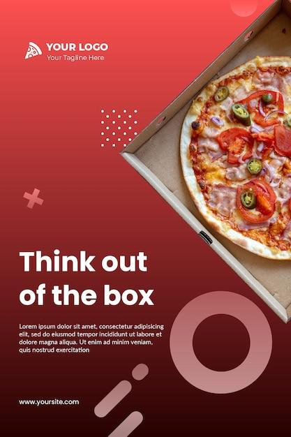 Pizza sjabloon flyer psd Gratis Psd
