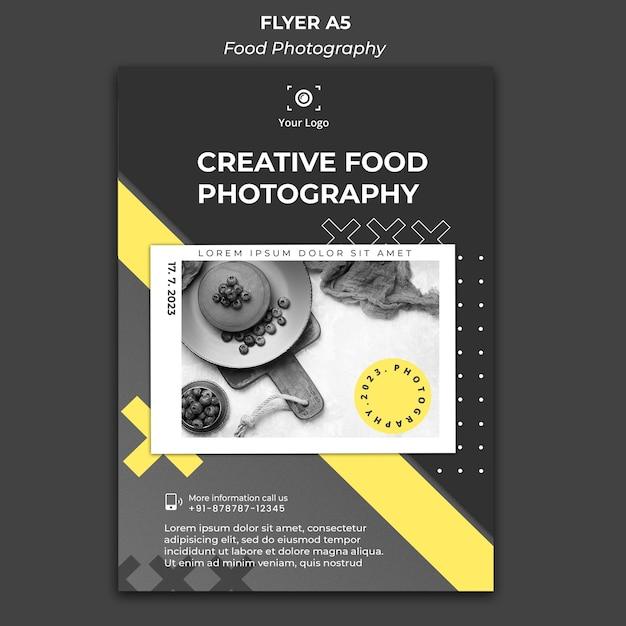 Plantilla de anuncio de fotografía de comida de cartel PSD gratuito