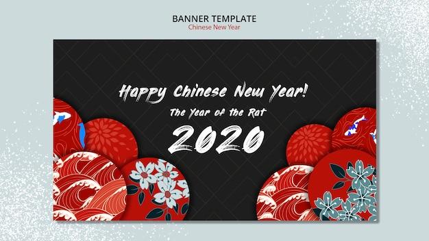 Plantilla de banner para año nuevo chino PSD gratuito