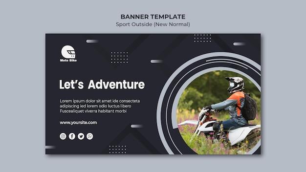 Plantilla de banner de concepto deportivo PSD gratuito