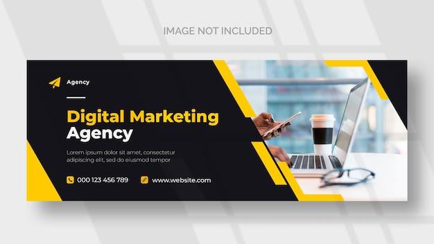 Plantilla de banner de facebook de marketing digital PSD gratuito