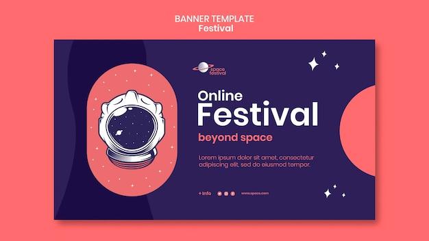 Plantilla de banner de festival PSD gratuito