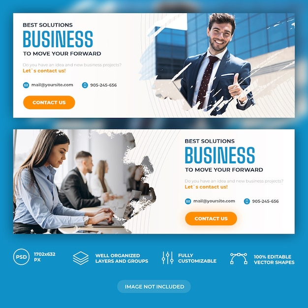 Plantilla de banner de negocios PSD Premium