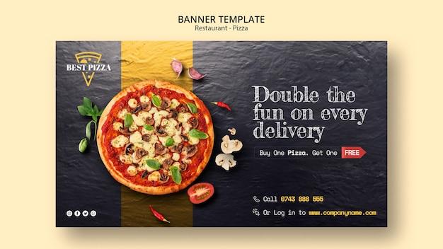 Plantilla de banner para pizzería PSD gratuito