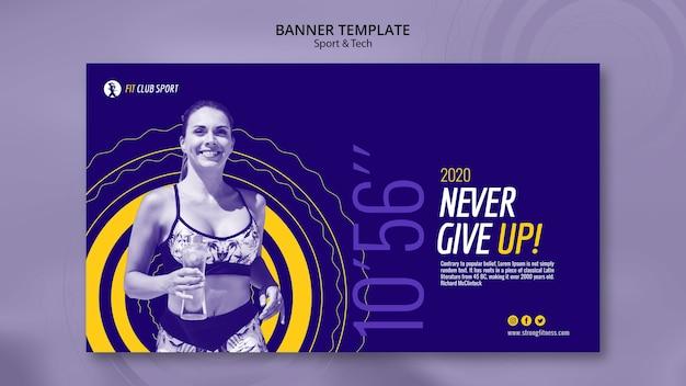 Plantilla de banner con promo de mujer en forma PSD gratuito