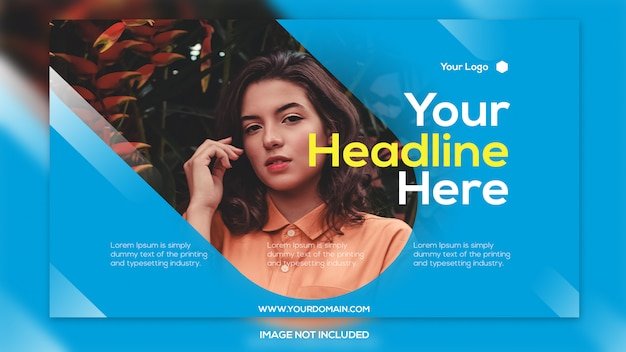 Plantilla de banner de promoción de venta de nuevo estilo PSD Premium
