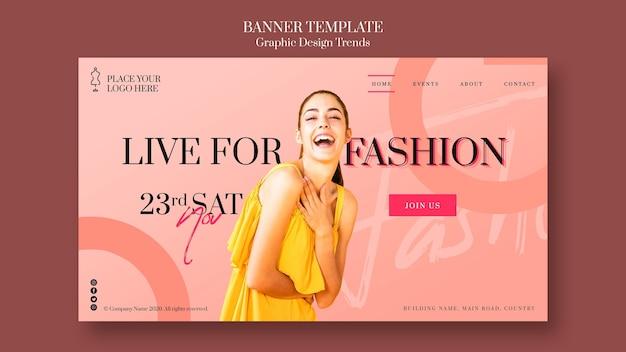 Plantilla de banner promocional de tienda de moda PSD Premium