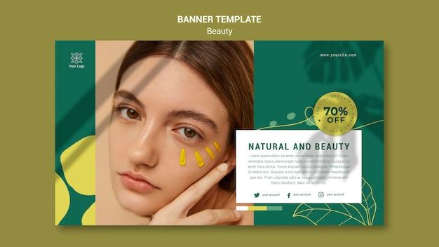 Plantilla de banner de salón de belleza PSD gratuito