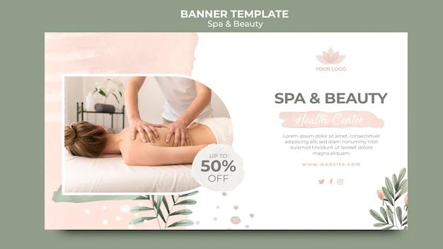 Plantilla de banner para terapia de spa PSD gratuito
