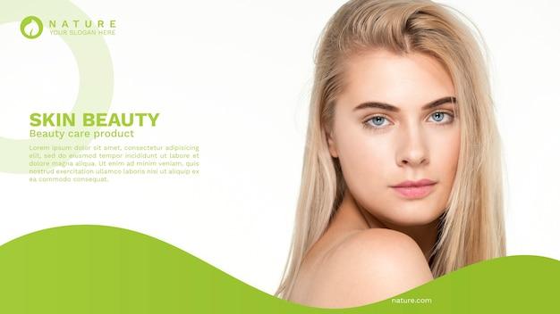 Plantilla de banner web con concepto de belleza PSD gratuito