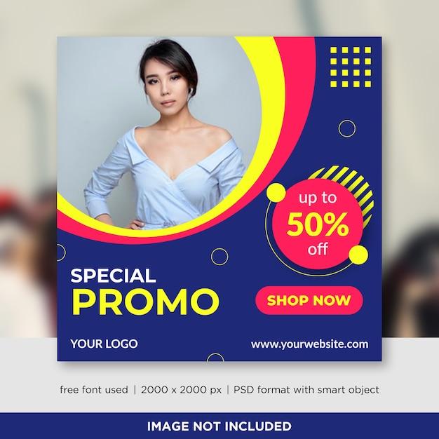 Plantilla de banners de redes sociales de venta de moda PSD Premium