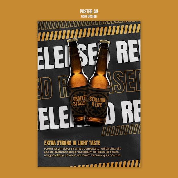 Plantilla de cartel de festival de cerveza PSD gratuito