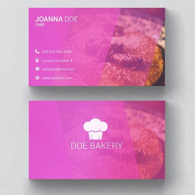 Plantilla de tarjeta de visita de la panadería | Descargar PSD gratis