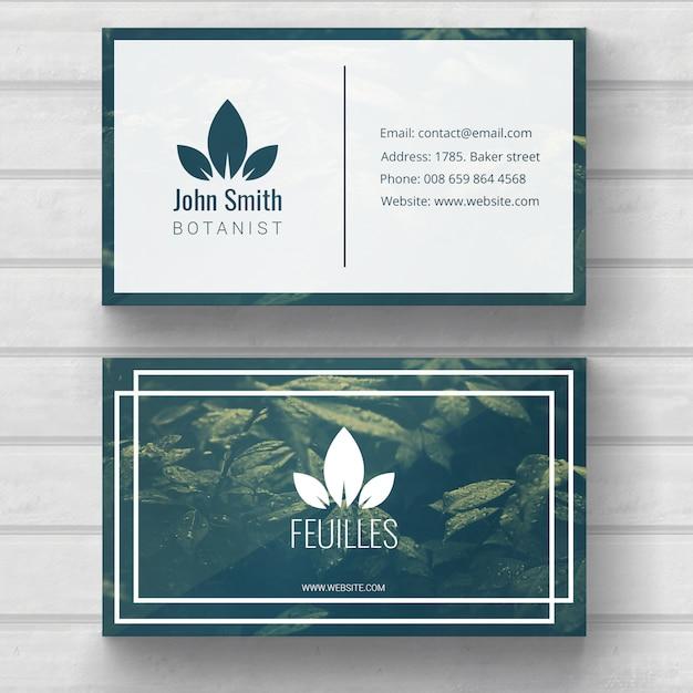Plantilla de tarjeta de visita de naturaleza Psd Gratis