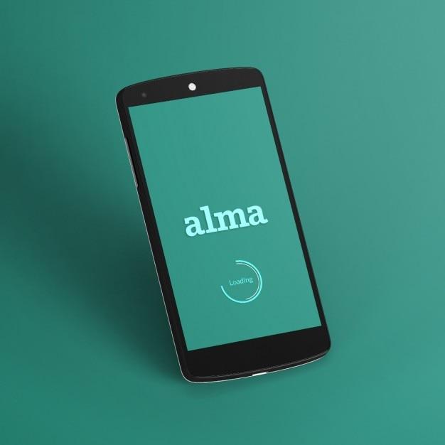 Plantilla de teléfono móvil negro | Descargar PSD gratis