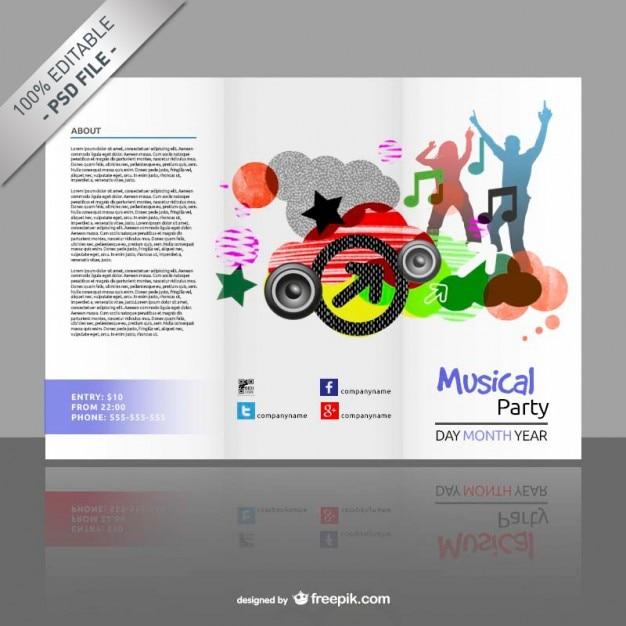 Plantilla de tríptico editable gratis | Descargar PSD gratis