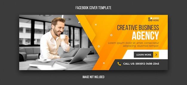 Plantilla de diseño de portada de facebook moderna de agencia PSD Premium