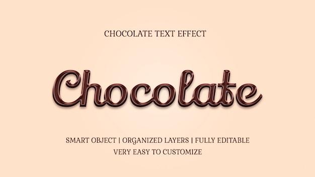 Plantilla de efecto de texto de caramelo estilo chocolate PSD Premium