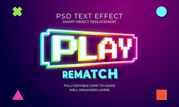 Plantilla de efecto de texto de juego PSD Premium