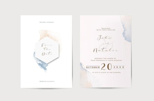 Plantilla elegante de invitación de boda de compromiso PSD gratuito