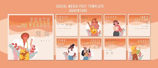 Plantilla de festival de publicación de redes sociales PSD gratuito