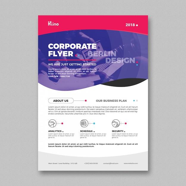 Plantilla de folleto corporativo moderno PSD gratuito