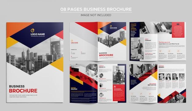 Plantilla de folleto de negocios de 08 páginas PSD Premium