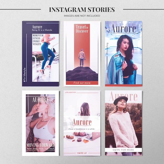 Plantilla de historia de instagram de moda PSD gratuito