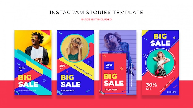 Plantilla de historia de venta colorido instagram PSD Premium
