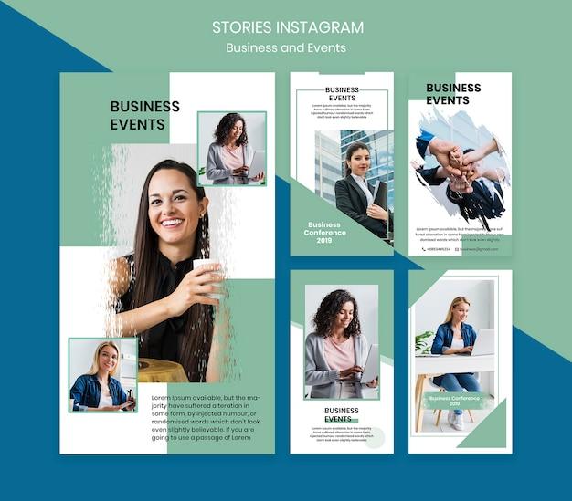 Plantilla de historias de instagram para evento de negocios PSD gratuito