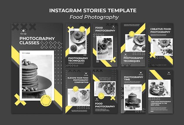 Plantilla de historias de instagram de fotografía de comida PSD Premium